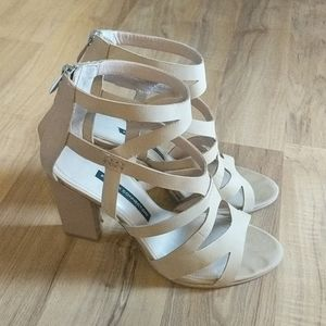 French Connection Strappy Chunky Heel Sandals